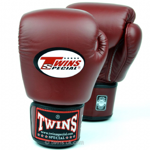 Twins Standard Boxing Gloves - Burgundy